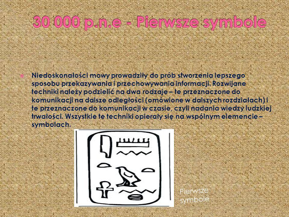  Niedoskonałości mowy prowadziły do prób stworzenia lepszego sposobu przekazywania i przechowywania informacji.