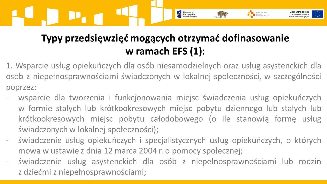 5.Publiczny koszt utworzenia nowego miejsca świadczenia usługi społecznej Ocenie podlegać będzie koszt utworzenia miejsca świadczenia usługi społecznej w ramach objętej wsparciem infrastruktury obliczony jako iloraz wnioskowanej kwoty dofinansowania w ramach EFRR i liczby utworzonych nowych miejsc świadczenia usługi społecznej.