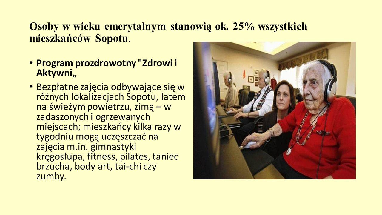 Osoby w wieku emerytalnym stanowią ok. 25% wszystkich mieszkańców Sopotu. Program prozdrowotny
