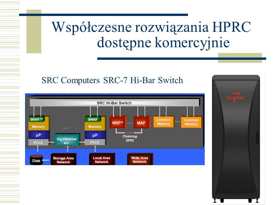 Współczesne rozwiązania HPRC dostępne komercyjnie SRC Computers SRC-7 Hi-Bar Switch