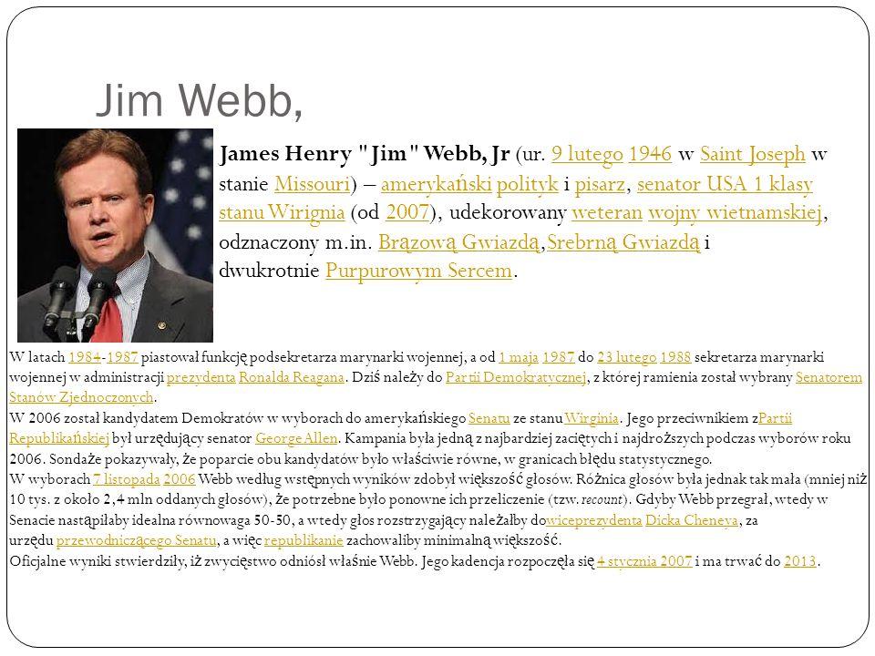 Jim Webb, James Henry