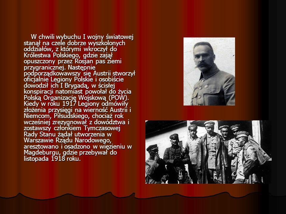 W chwili wybuchu I wojny światowej stanął na czele dobrze wyszkolonych oddziałów, z którymi wkroczył do Królestwa Polskiego, gdzie zajął opuszczony pr