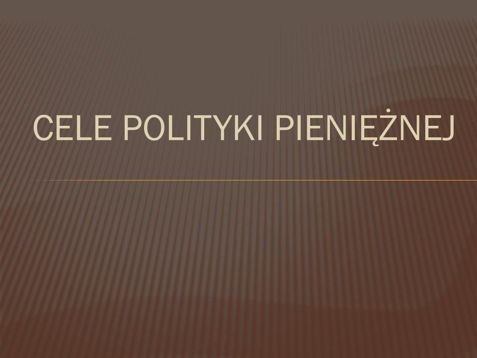 CELE POLITYKI PIENIĘŻNEJ