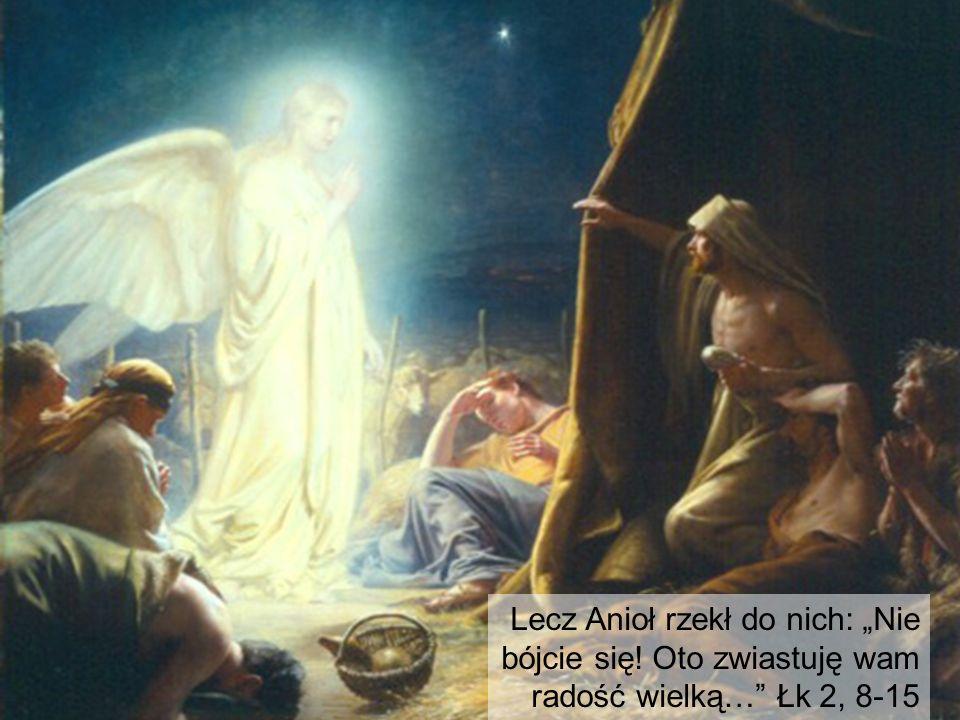 """Lecz Anioł rzekł do nich: """"Nie bójcie się! Oto zwiastuję wam radość wielką…"""" Łk 2, 8-15"""