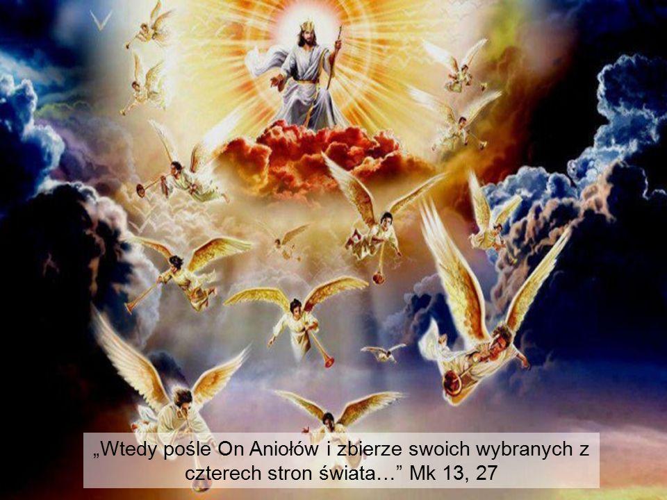 """""""Wtedy pośle On Aniołów i zbierze swoich wybranych z czterech stron świata…"""" Mk 13, 27"""