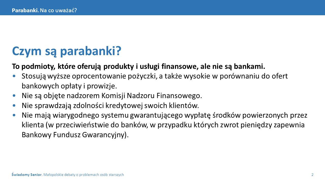 Świadomy Senior. Małopolskie debaty o problemach osób starszych2 Parabanki.
