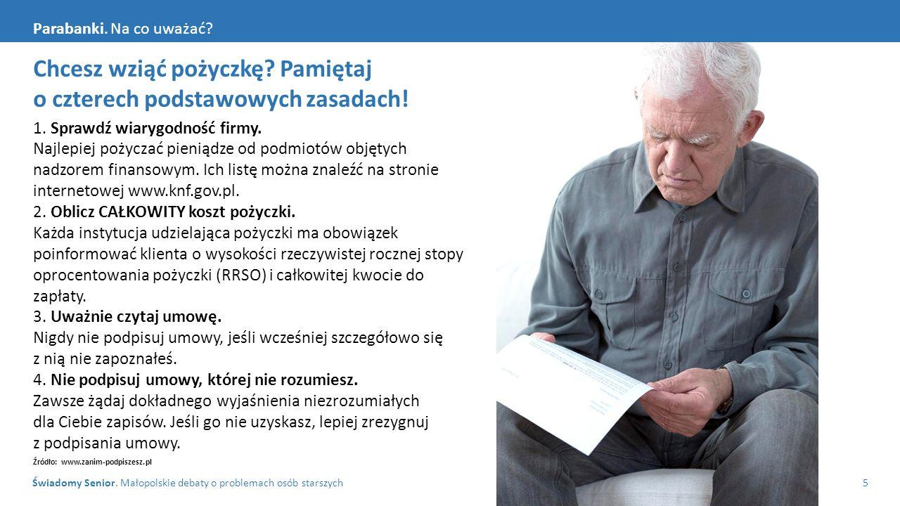 Świadomy Senior. Małopolskie debaty o problemach osób starszych5 Parabanki.
