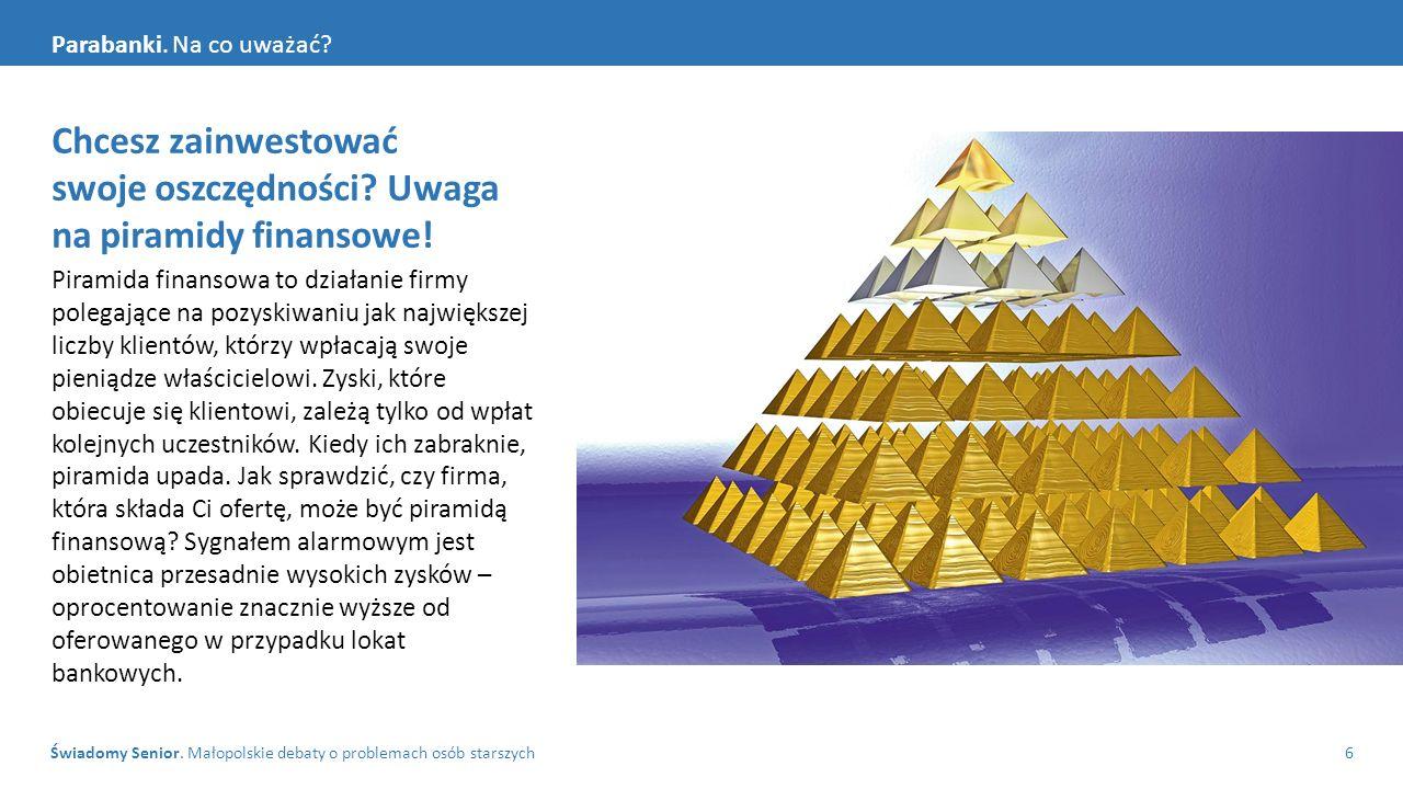 Świadomy Senior. Małopolskie debaty o problemach osób starszych6 Parabanki.