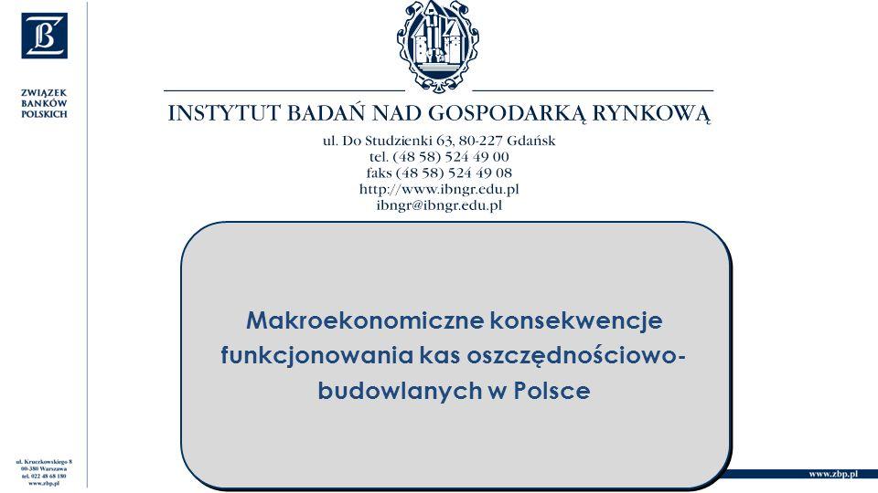 Makroekonomiczne konsekwencje funkcjonowania kas oszczędnościowo- budowlanych w Polsce Makroekonomiczne konsekwencje funkcjonowania kas oszczędnościowo- budowlanych w Polsce