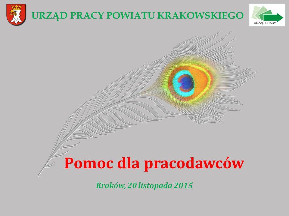 URZĄD PRACY POWIATU KRAKOWSKIEGO Pomoc dla pracodawców Kraków, 20 listopada 2015