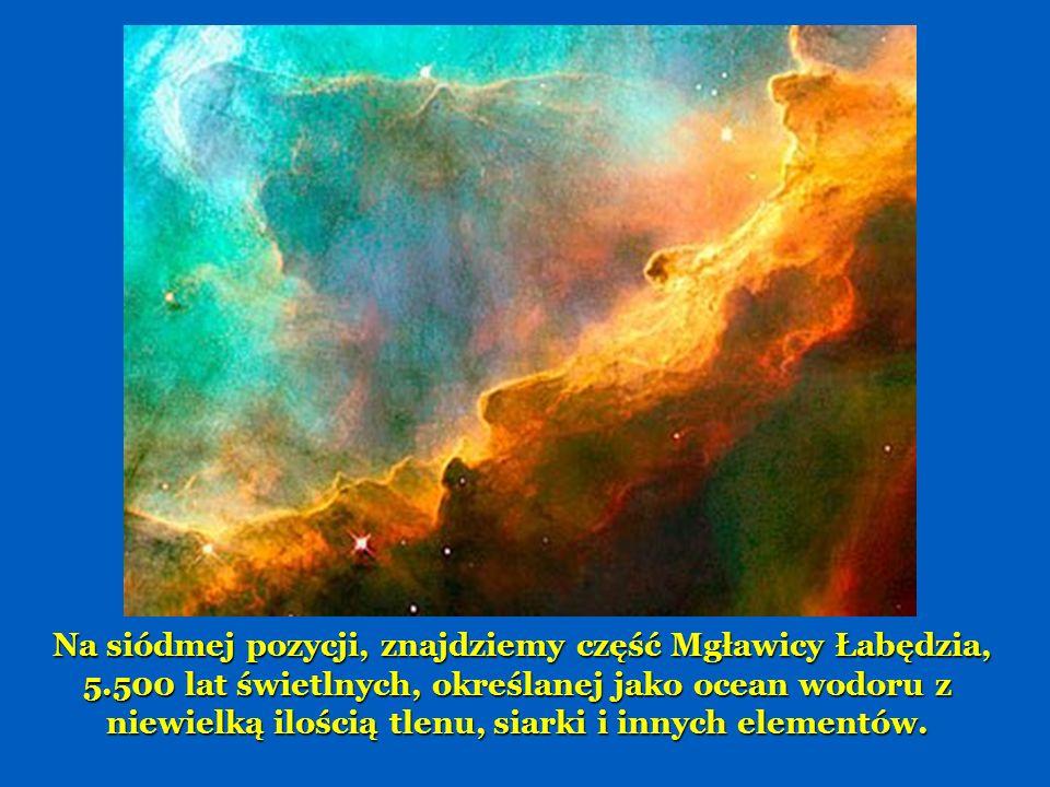 Na 6 miejscu mamy część Mgławicy Konusa, 2.500 lat świetlnych.