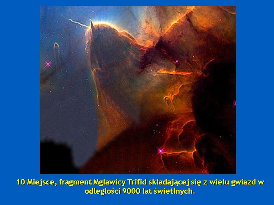 9 Miejsce, dwie łączące się Galaktyki: NGC 2207 i IC 2163, znajdują się o 114 milionów lat świetlnych.