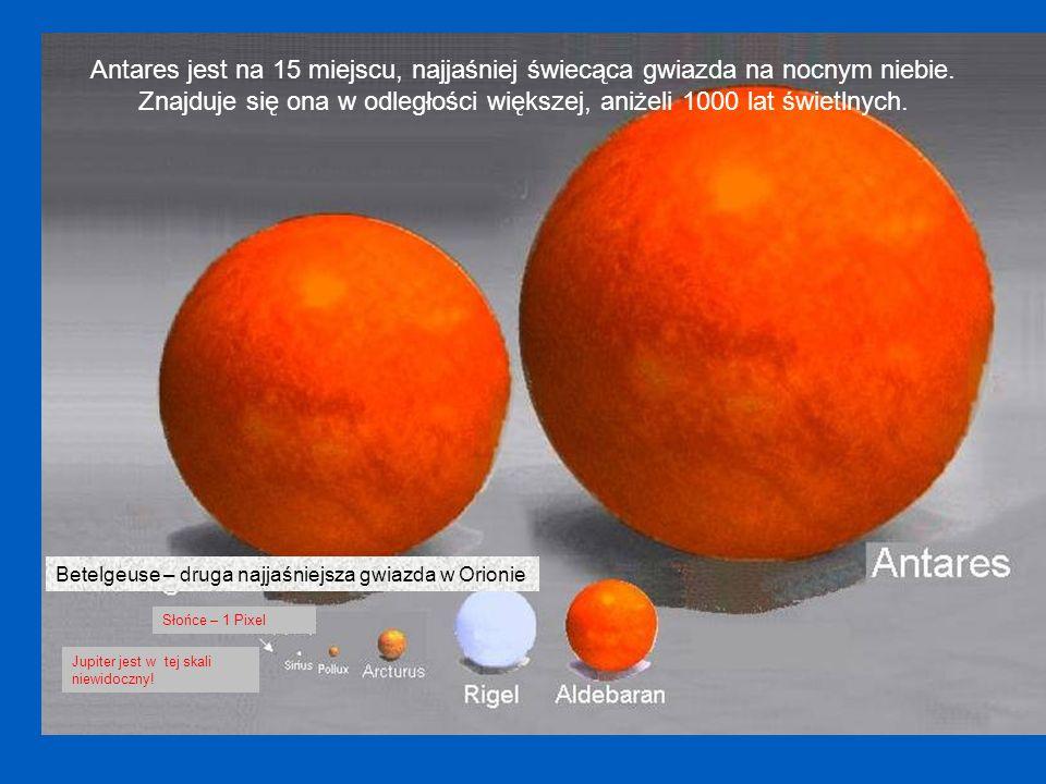 Nasze Słońce Sirius Arcturus Jupiter wielkości 1 Pixel, punkt na strzałce.