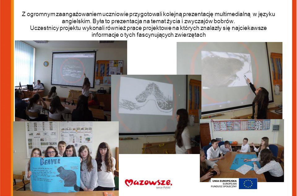 Z ogromnym zaangażowaniem uczniowie przygotowali kolejną prezentację multimedialną w języku angielskim.