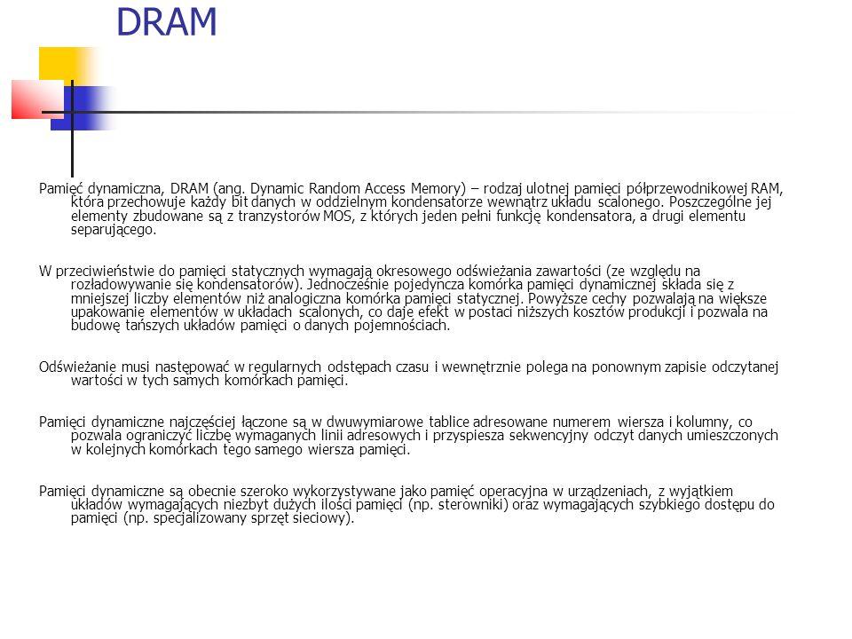 DRAM Pamięć dynamiczna, DRAM (ang.