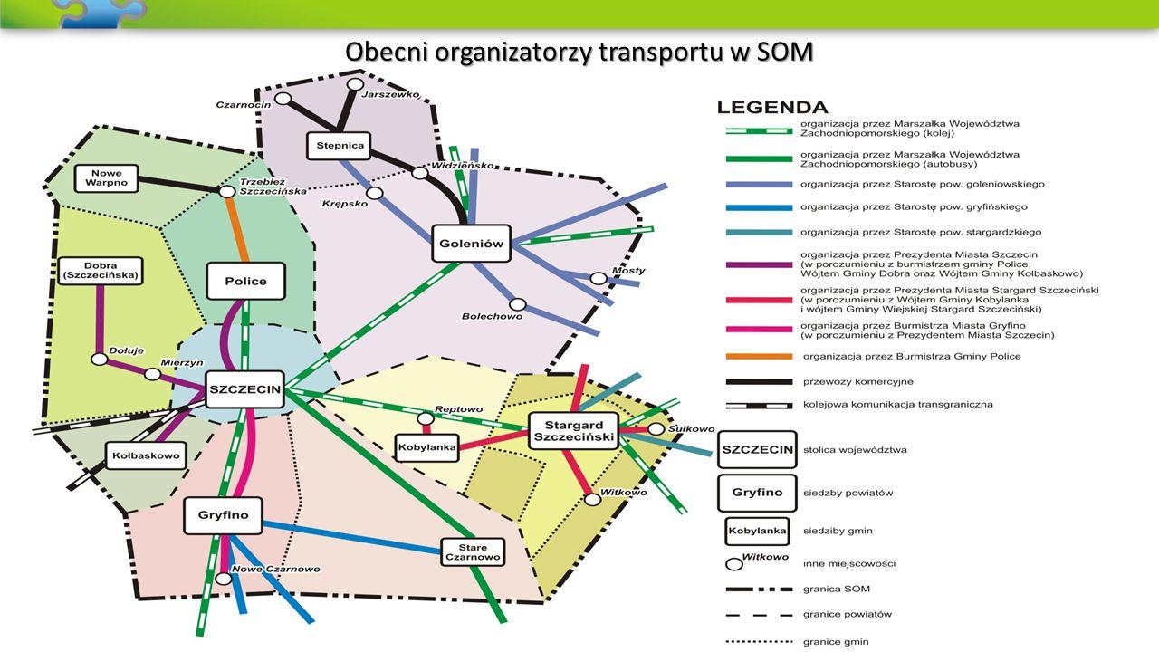 Integracja organizacyjna w transporcie publicznym Integracja organizacyjna polega na powołaniu jednego wspólnego podmiotu, któremu łatwiej jest zarządzać całym transportem zbiorowym, niż kilku/kilkunastu odrębnym podmiotom, np.