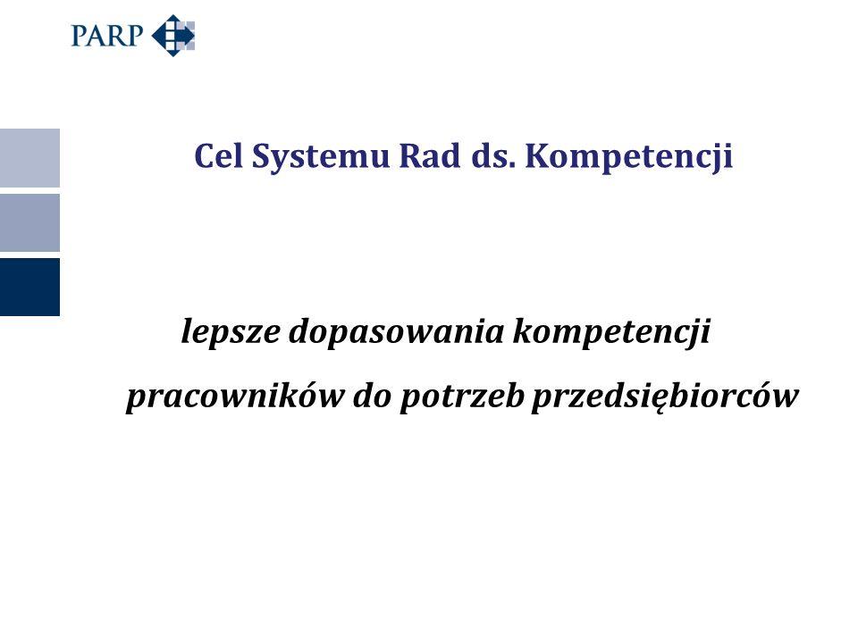 Cel Systemu Rad ds. Kompetencji lepsze dopasowania kompetencji pracowników do potrzeb przedsiębiorców