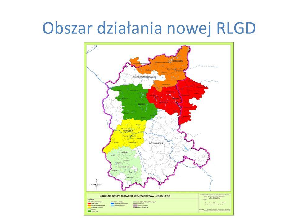 Obszar działania nowej RLGD