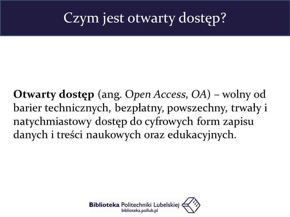 """Model OA gratis = Dozwolony użytek Model OA Libre = Wolne licencje """" darmowy i otwarty dostęp - rozpowszechnianie utworu w taki sposób, aby każdy mógł mieć do niego dostęp w miejscu i w czasie przez siebie wybranym oraz możliwość nieodpłatnego i nieograniczonego technicznie korzystania z nich zgodnie z właściwymi przepisami 1 """" darmowy i otwarty dostęp - rozpowszechnianie utworu w taki sposób, aby każdy mógł mieć do niego dostęp w miejscu i w czasie przez siebie wybranym wraz z udzieleniem każdemu licencji na nieograniczone, nieodpłatne i niewyłączne korzystanie z nich oraz z ich ewentualnych opracowań… 2 Modele otwartego dostępu"""