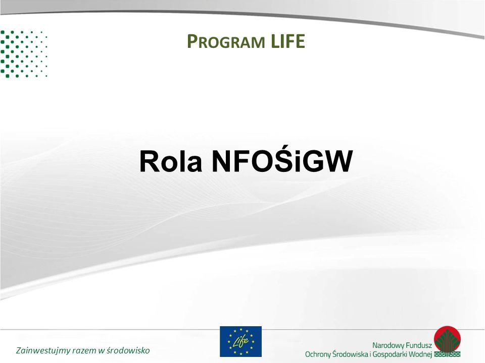 Zainwestujmy razem w środowisko P ROGRAM LIFE Rola NFOŚiGW