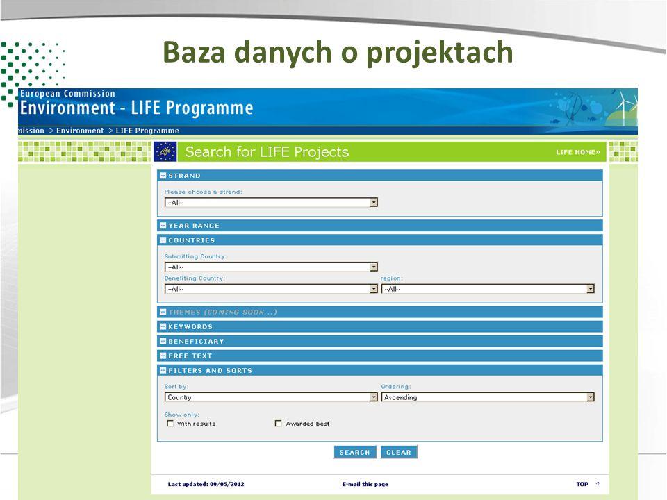 Zainwestujmy razem w środowisko Baza danych o projektach