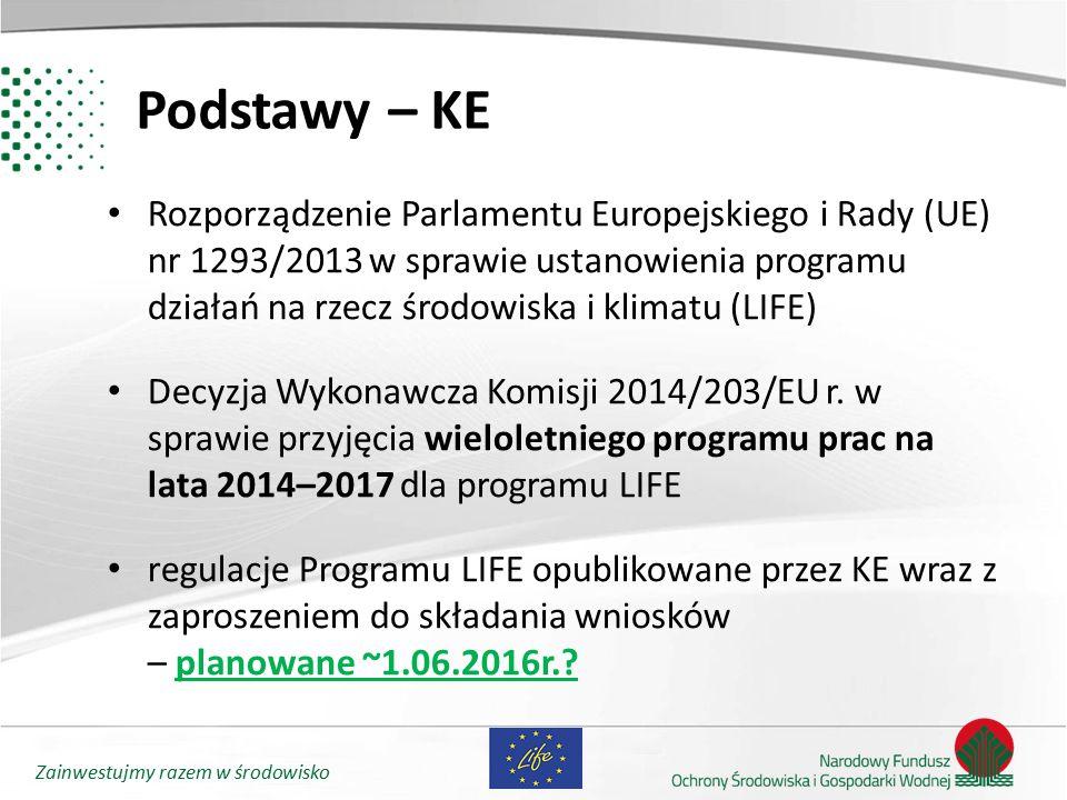 Zainwestujmy razem w środowisko Podstawy – KE Rozporządzenie Parlamentu Europejskiego i Rady (UE) nr 1293/2013 w sprawie ustanowienia programu działań