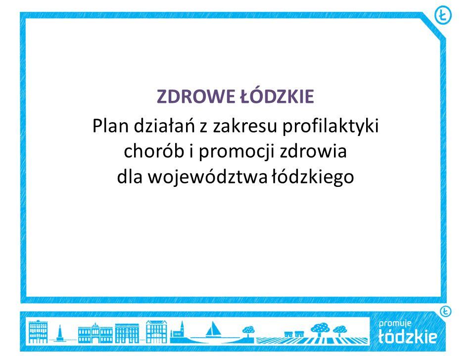 ZDROWE ŁÓDZKIE Plan działań z zakresu profilaktyki chorób i promocji zdrowia dla województwa łódzkiego