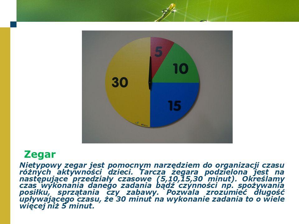 Zegar Nietypowy zegar jest pomocnym narzędziem do organizacji czasu różnych aktywności dzieci.