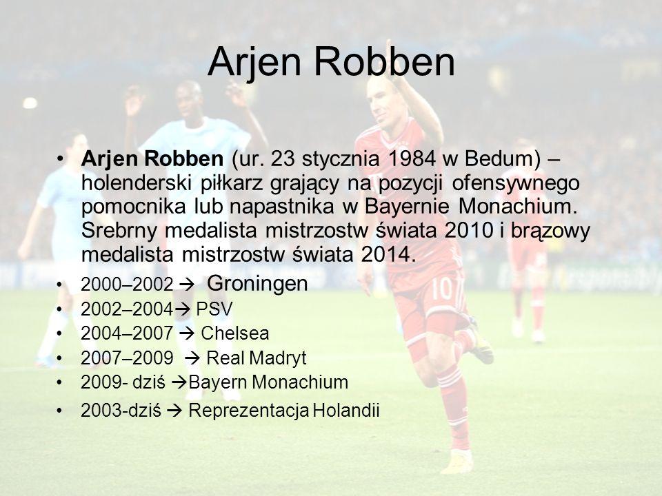 Arjen Robben Arjen Robben (ur.