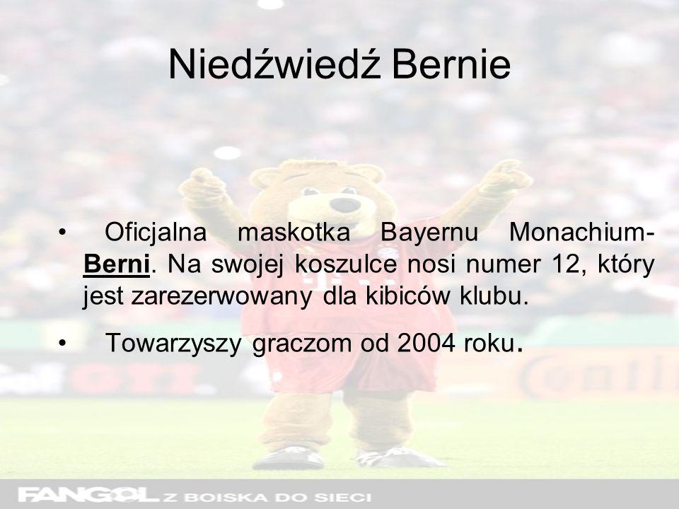 Niedźwiedź Bernie Oficjalna maskotka Bayernu Monachium- Berni.