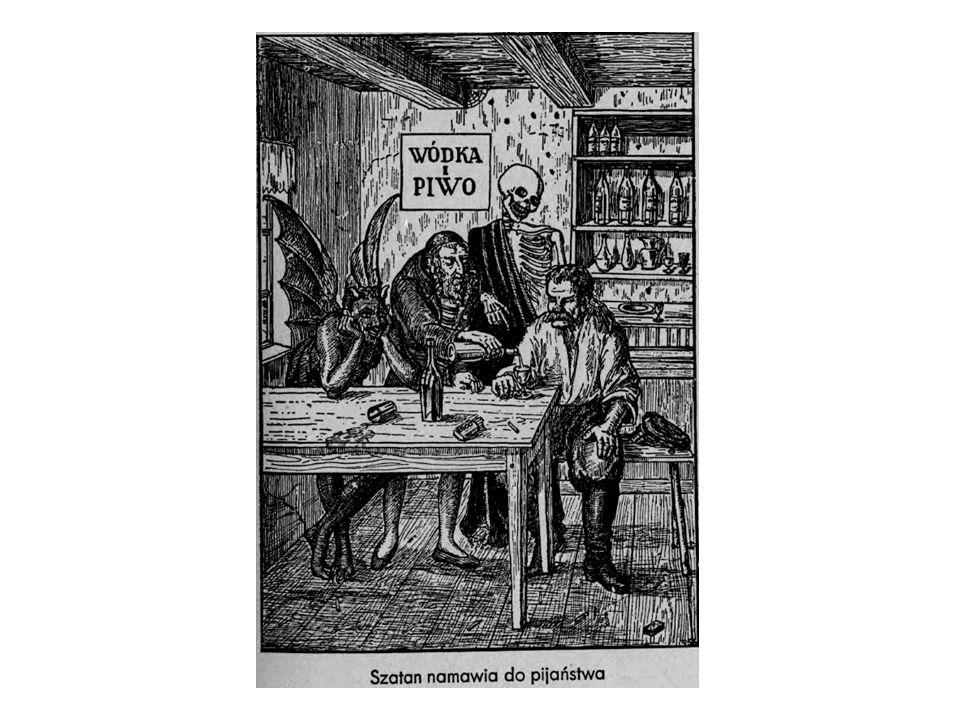 Ok. roku 1844: 38 litra czystego alkoholu na 1 mieszkańca terenów Polski.