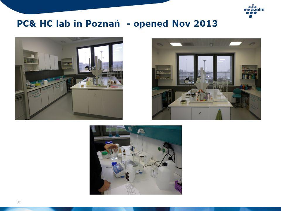 15 PC& HC lab in Poznań - opened Nov 2013
