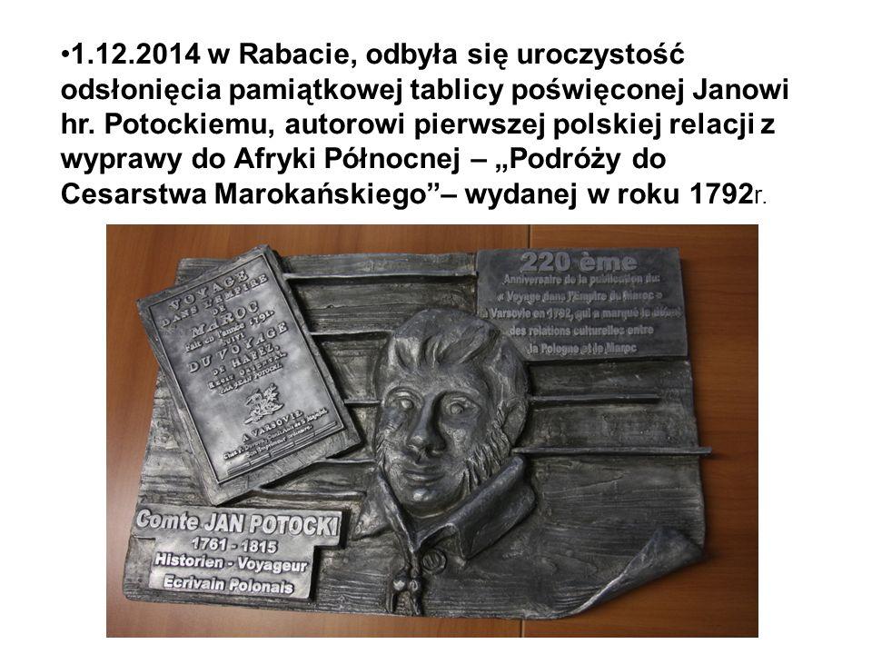 1.12.2014 w Rabacie, odbyła się uroczystość odsłonięcia pamiątkowej tablicy poświęconej Janowi hr. Potockiemu, autorowi pierwszej polskiej relacji z w