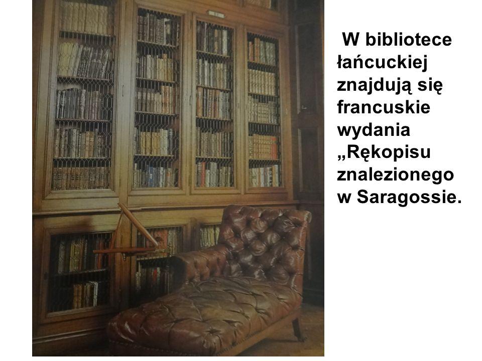 """W bibliotece łańcuckiej znajdują się francuskie wydania """"Rękopisu znalezionego w Saragossie."""