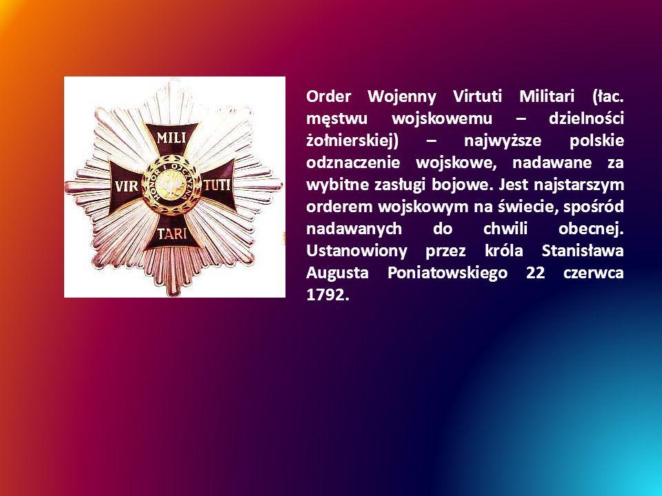 Order Wojenny Virtuti Militari (łac.