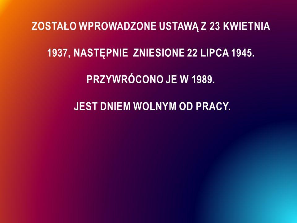 """ Święto Niepodległości obchodzone w dniu 11 listopada zostało przywrócone przez Sejm ustawą z 15 lutego 1989 pod nazwą """"Narodowe Święto Niepodległości ."""