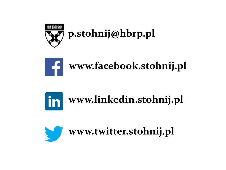 p.stohnij@hbrp.pl www.facebook.stohnij.pl www.linkedin.stohnij.pl www.twitter.stohnij.pl