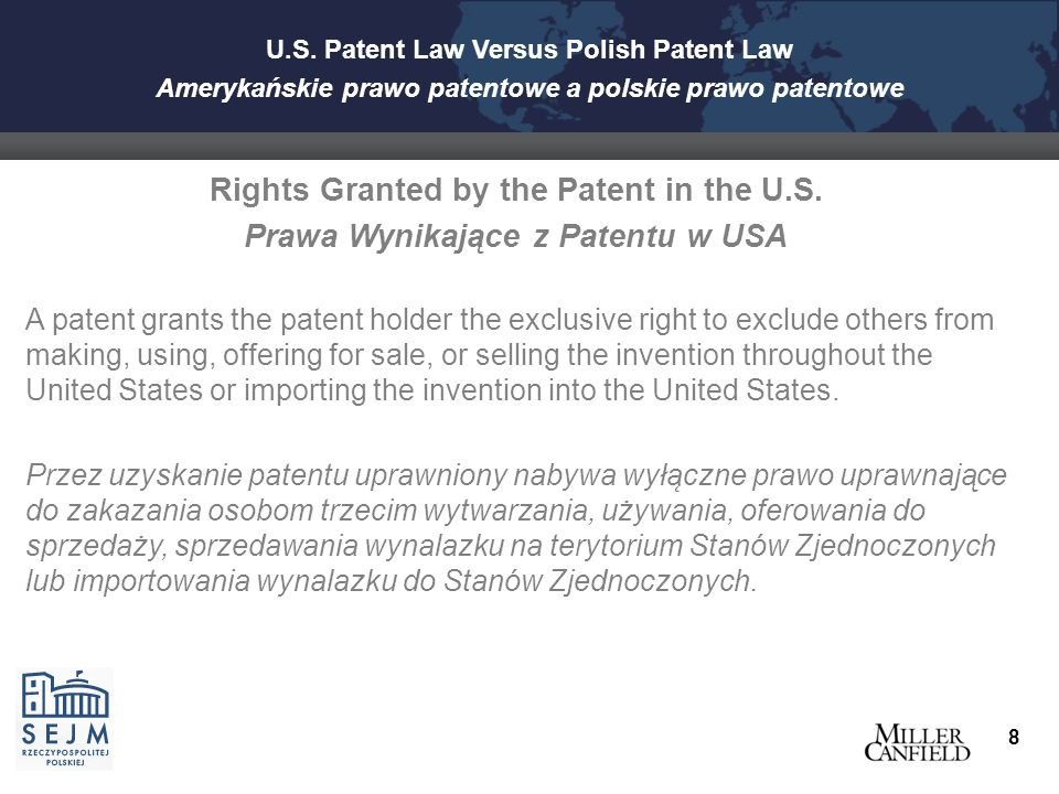 Bayh-Dole Act - Akt prawny Bayh-Dole  In US Government funded research, University entitled to all IP rights in inventions, but must grant non-exclusive use rights to US Government.