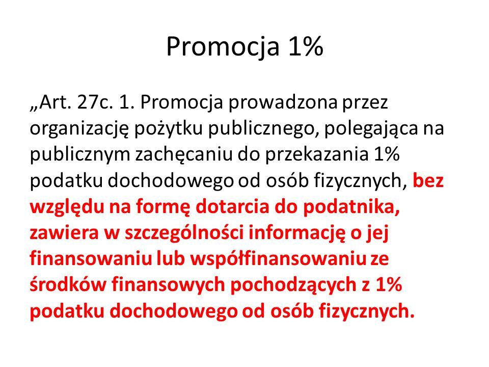 "Promocja 1% ""Art. 27c. 1."