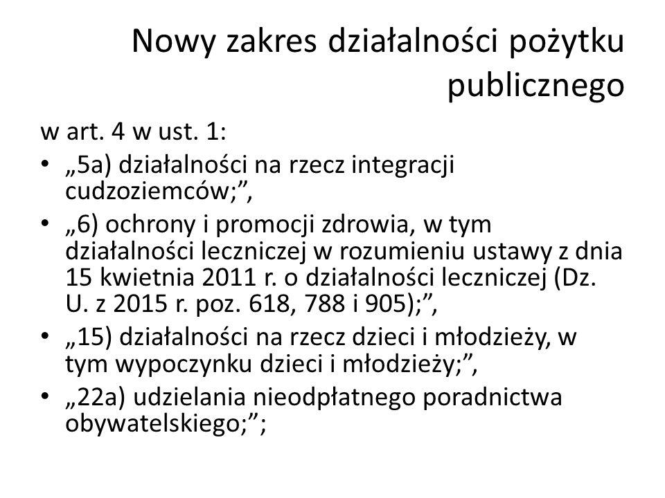 Dostęp do informacji publicznej Art.4a. Organizacje pozarządowe oraz podmioty wymienione w art.