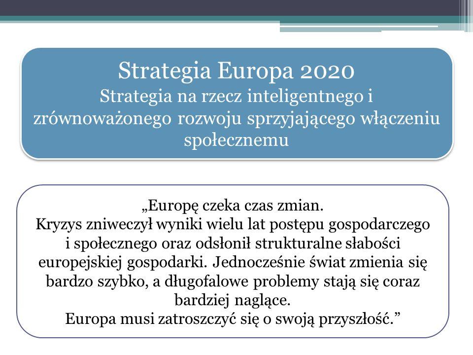 Strategia Europa 2020 Strategia na rzecz inteligentnego i zrównoważonego rozwoju sprzyjającego włączeniu społecznemu Strategia Europa 2020 Strategia n