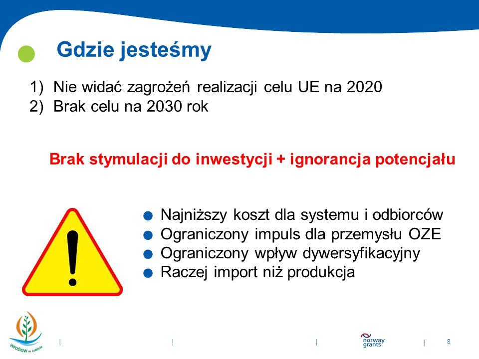 | 8 | | |. Najniższy koszt dla systemu i odbiorców. Ograniczony impuls dla przemysłu OZE. Ograniczony wpływ dywersyfikacyjny. Raczej import niż produk