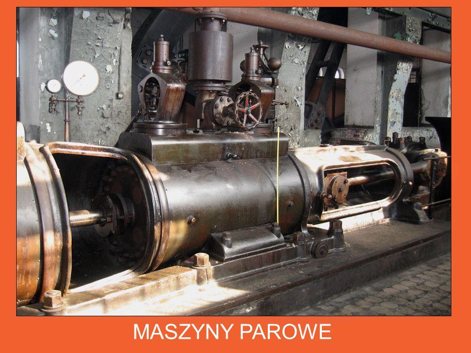 MASZYNY PAROWE Walcarki napędzane były 4 zespołami maszyn parowych dwustronnego działania wyprodukowanymi w roku 1903 w Hucie Wilhelma w Szprotawie.