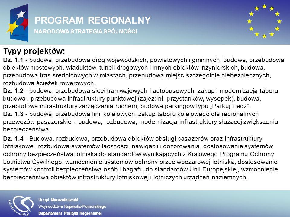 Marszałkowski Urząd Marszałkowski Kujawsko-Pomorskiego Województwa Kujawsko-Pomorskiego Departament Polityki Regionalnej PROGRAM REGIONALNY NARODOWA STRATEGIA SPÓJNOŚCI W osi 8 wyróżniamy następujące działania: 8.1 Wsparcie procesu zarządzania i wdrażania RPO 8.2 Działania informacyjne i promocyjne