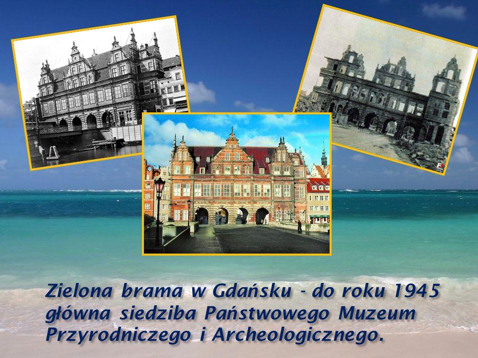 Zielona brama w Gdańsku - do roku 1945 główna siedziba Państwowego Muzeum Przyrodniczego i Archeologicznego.