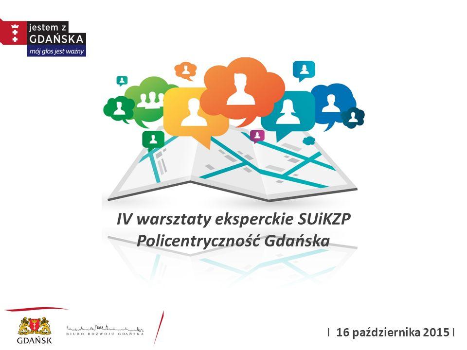 IV warsztaty eksperckie SUiKZP Policentryczność Gdańska I 16 października 2015 I