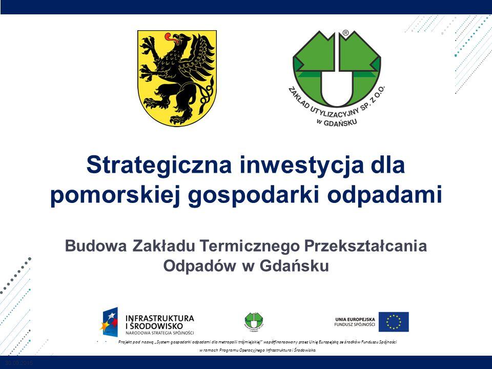 IPOPEMA / Poufne Strategiczna inwestycja dla pomorskiej gospodarki odpadami Budowa Zakładu Termicznego Przekształcania Odpadów w Gdańsku Projekt pod n