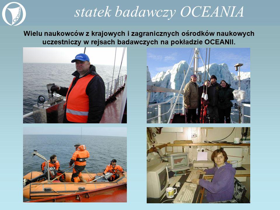 Wielu naukowców z krajowych i zagranicznych ośrodków naukowych uczestniczy w rejsach badawczych na pokładzie OCEANII. statek badawczy OCEANIA