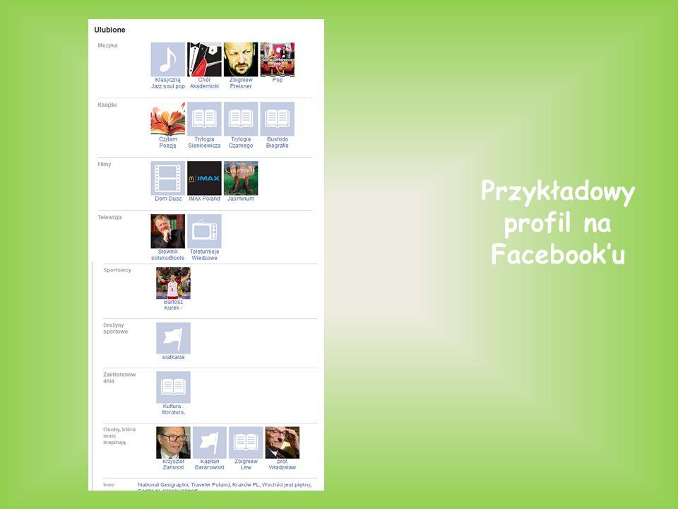 Przykładowy profil na Facebook'u