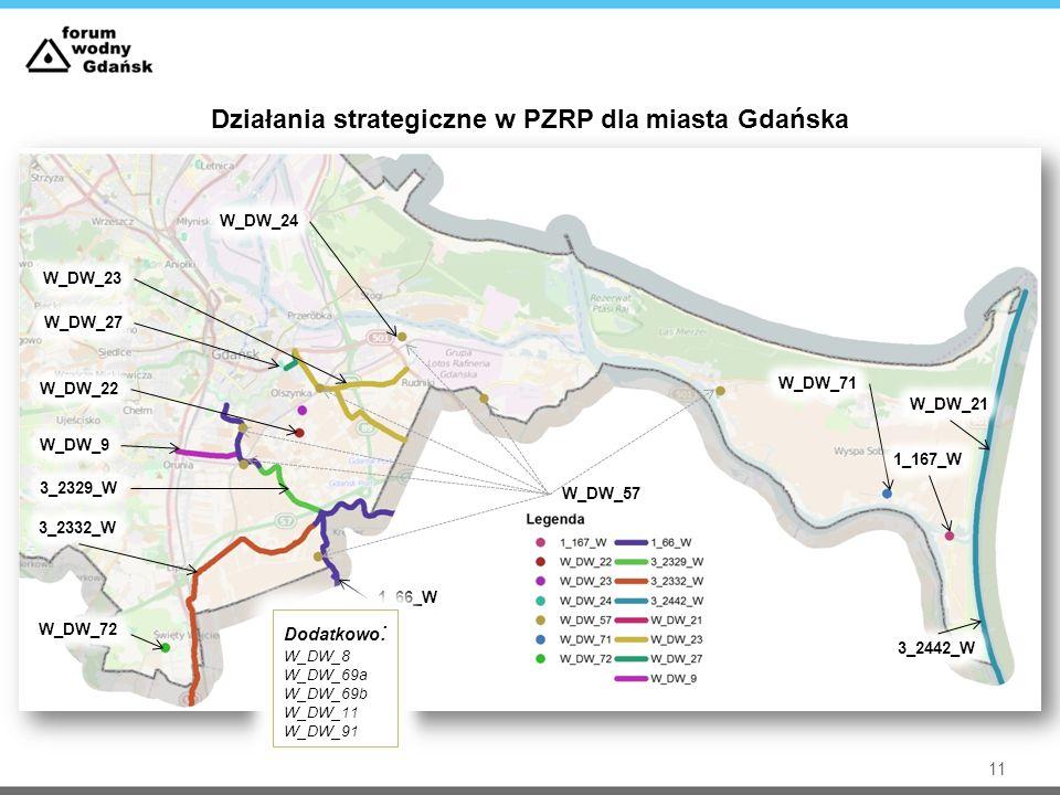 11 Działania strategiczne w PZRP dla miasta Gdańska Dodatkowo : W_DW_8 W_DW_69a W_DW_69b W_DW_11 W_DW_91